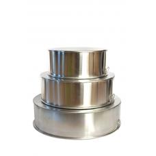 3 Tier Round Aluminium Cake Tin Baking Pan 8 - 10 - 12 inch