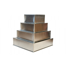 4 Tier Square Aluminium Cake Tin Baking Pan 6 - 8 - 10 - 12 inch