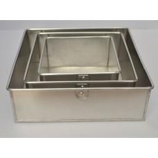 3 Tier Square Aluminium Cake Tin Baking Pan 6 - 8 - 10 inch